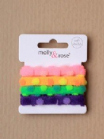 Dotty neon hair elastics (Code 2447)